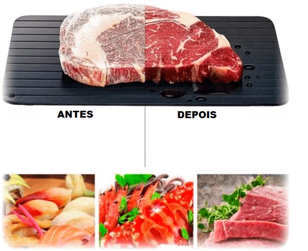 TÁBUA DE DESCONGELAR ALIMENTOS