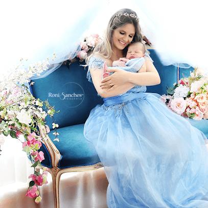 Newborn com a mãe princesa
